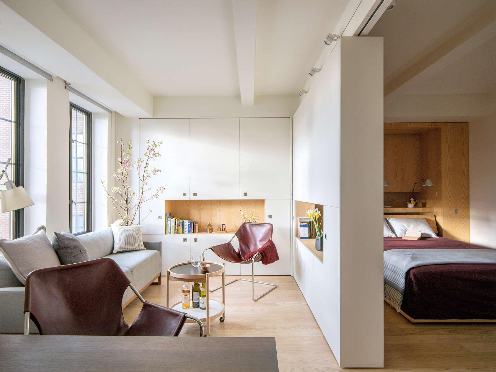Перегородка между гостиной и спальней
