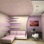 Сиреневый в дизайне комнат