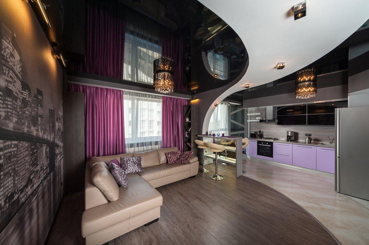 Потолки из гипсокартона (85 фото) - дизайн потолков для разных ... | 798x1200