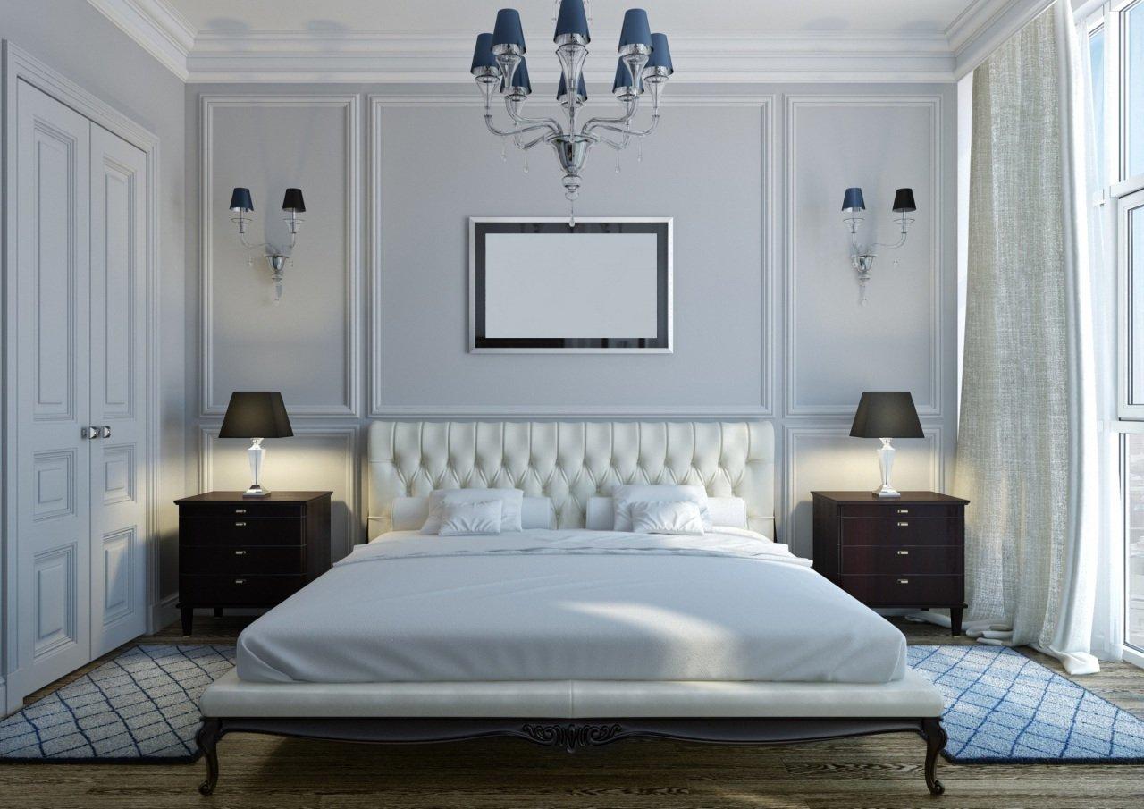 Темная мебель в спальне для взрослых