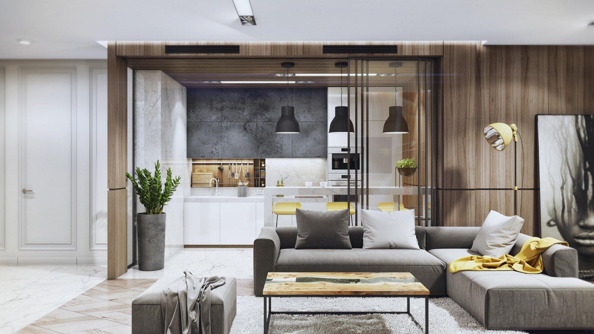 Черно-белый дизайн квартиры