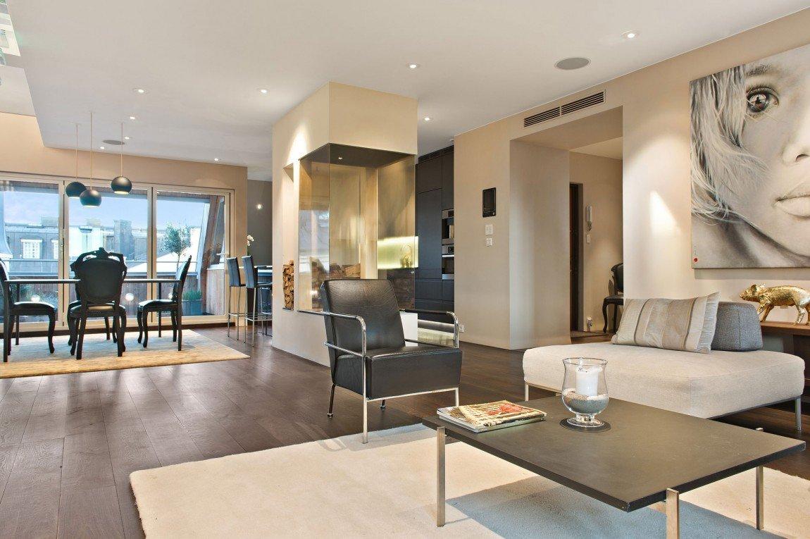 Бежевый и коричневый в дизайне квартиры