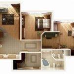 Вариант проекта трехкомнатной квартиры