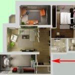Вариант 3D дизайн-проекта трехкомнатной квартиры