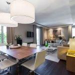 Вариант расстановки мебели в трехкомнатной квартире