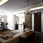 Бежевый диван в интерьере квартиры
