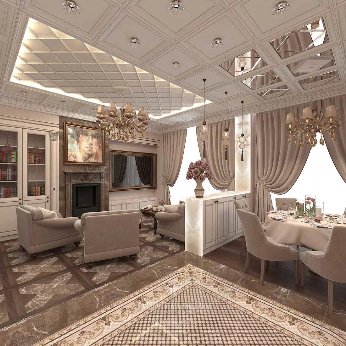 Текстиль в интерьере в дворцовом стиле