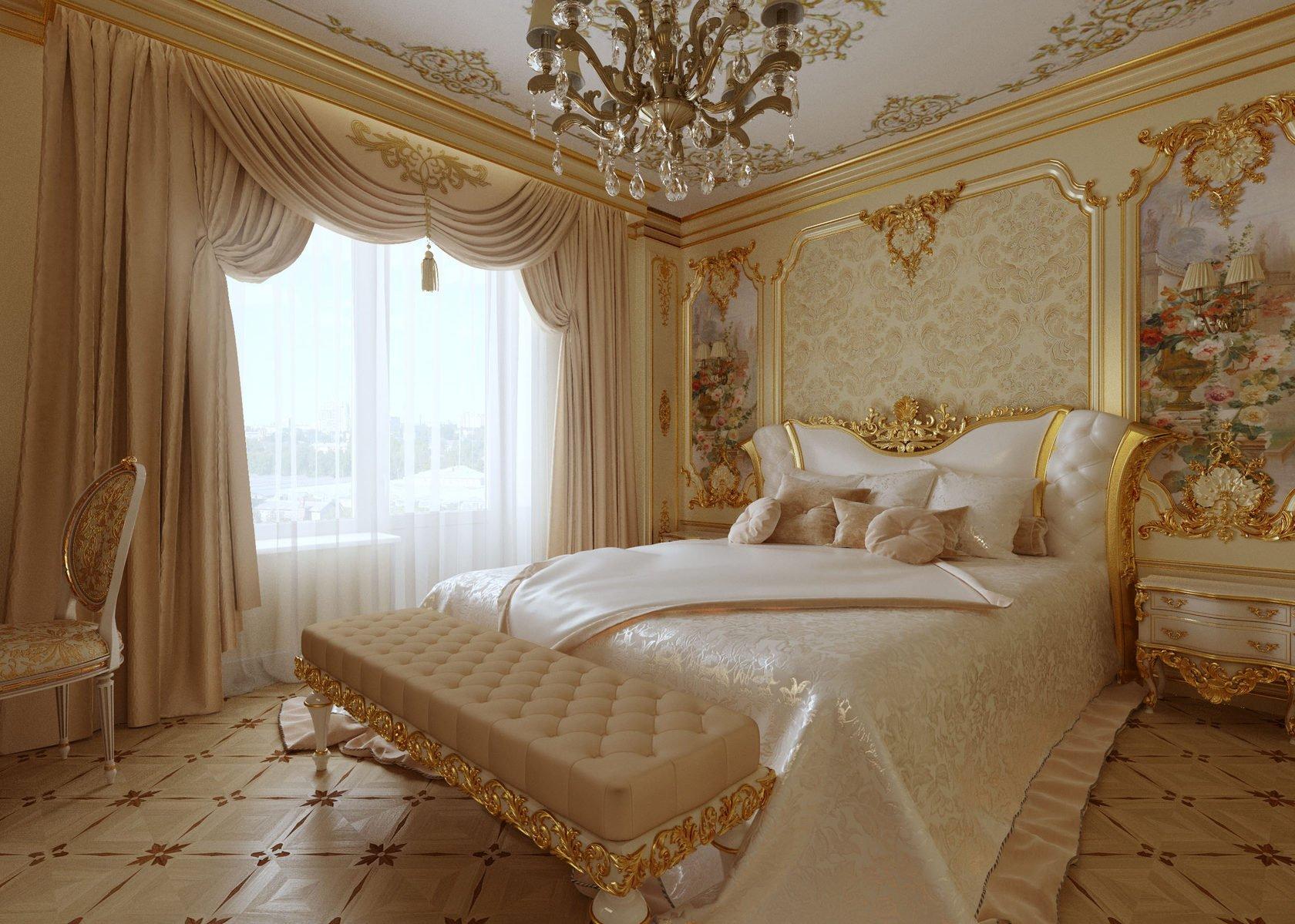 Спальня в дворцовом стиле