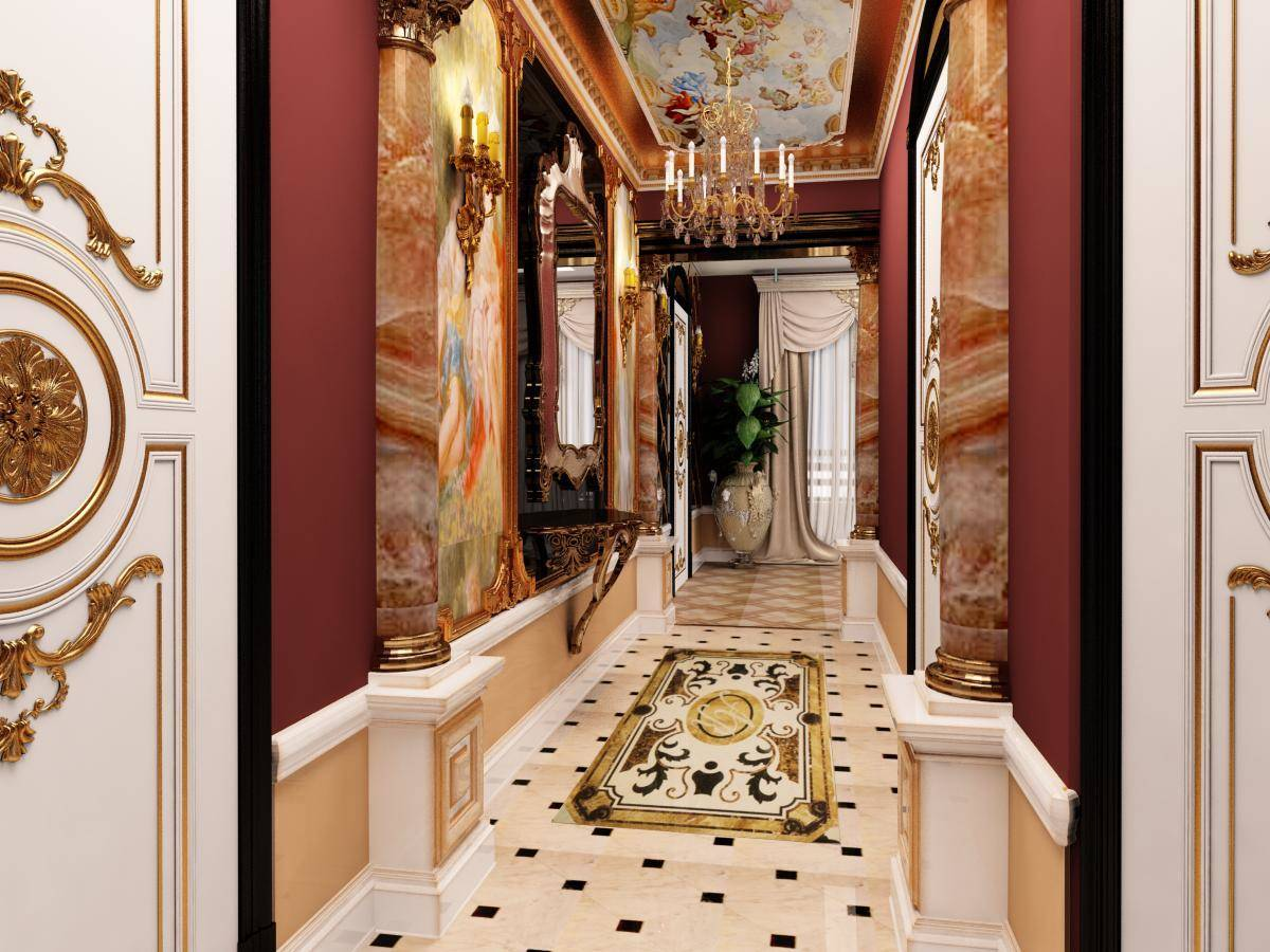 Прихожая в дворцовом стиле