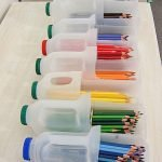 Коробки для хранения карандашей из пластиковых бутылок