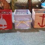 Коробки для детской в морском стиле