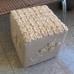 Вязаный декор коробки