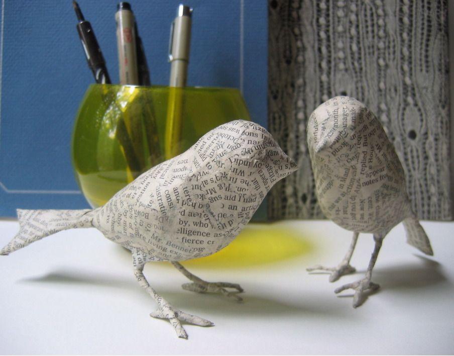 Птицы из папье-маше