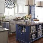 Оформление кухни в синем цвете