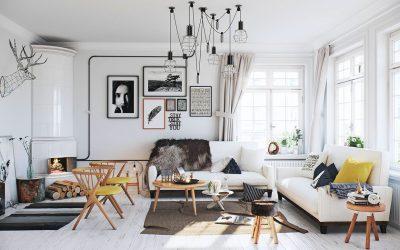 Гостиная в скандинавском стиле: 75 примеров дизайна