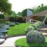 Элементы современного дизайн участка