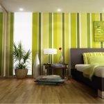 Зелено-коричневый дизайн спальни