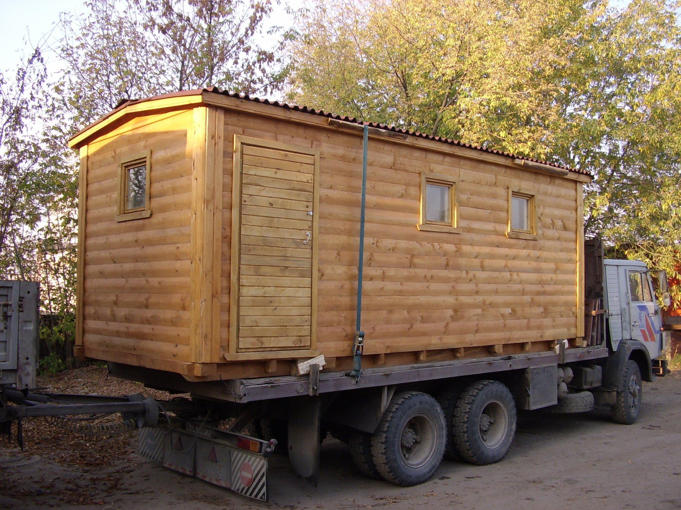 Баня-прицеп для грузовика