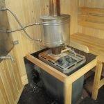 Печь в передвижной бане