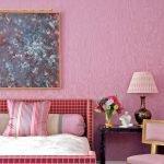 Оттенки розового в дизайне спальни