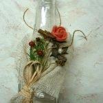 Клеим композицию на бутылку
