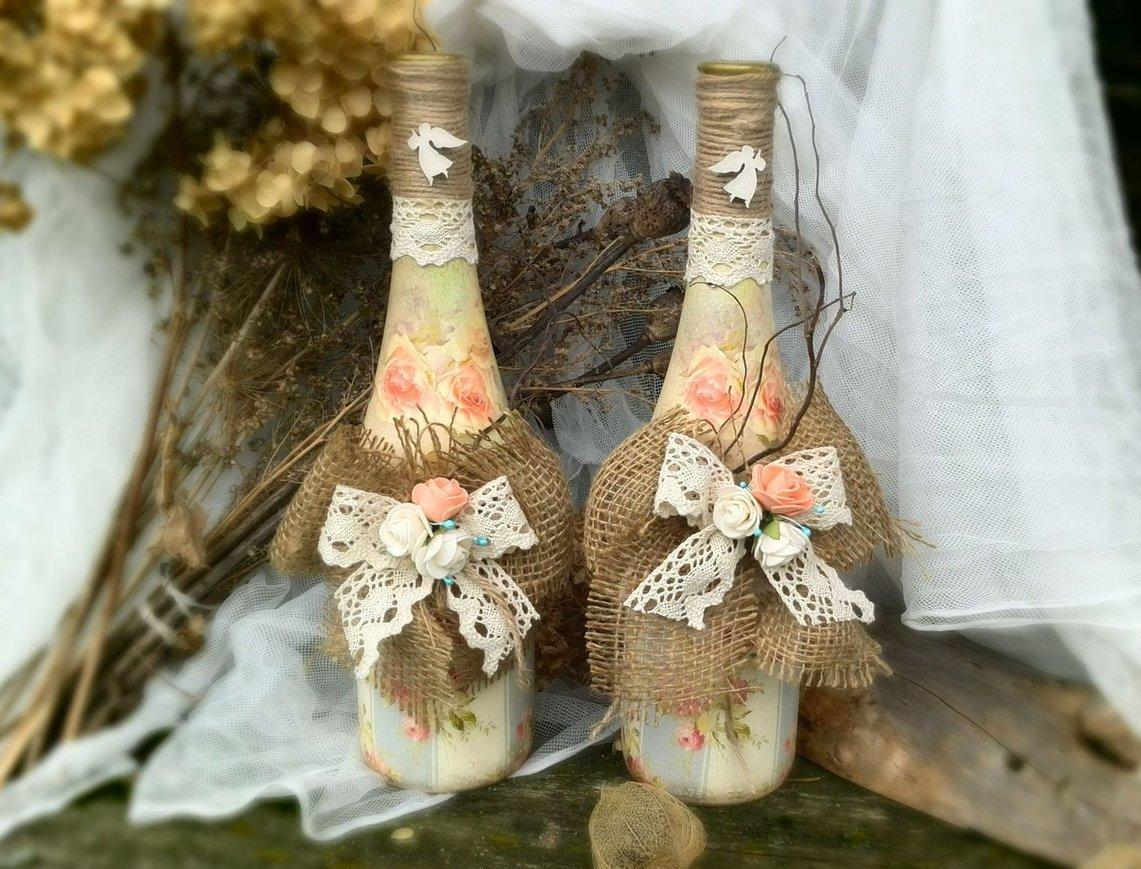 декорирование бутылок своими руками фото идеи редко