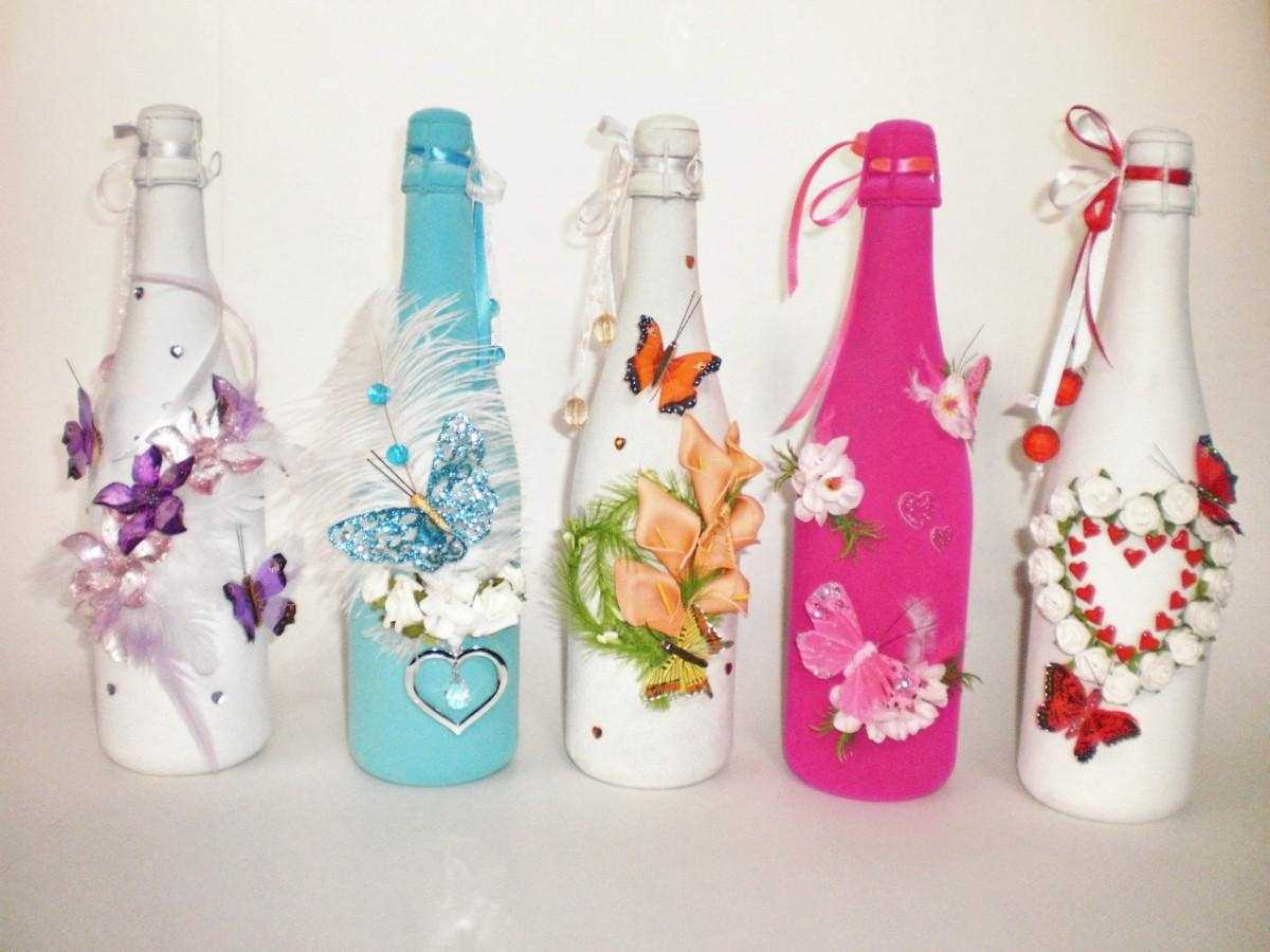 Оформление подарочной бутылки