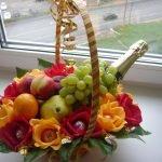 Подарочный набор из шампанского и конфет