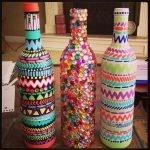 Этнические мотивы на бутылке