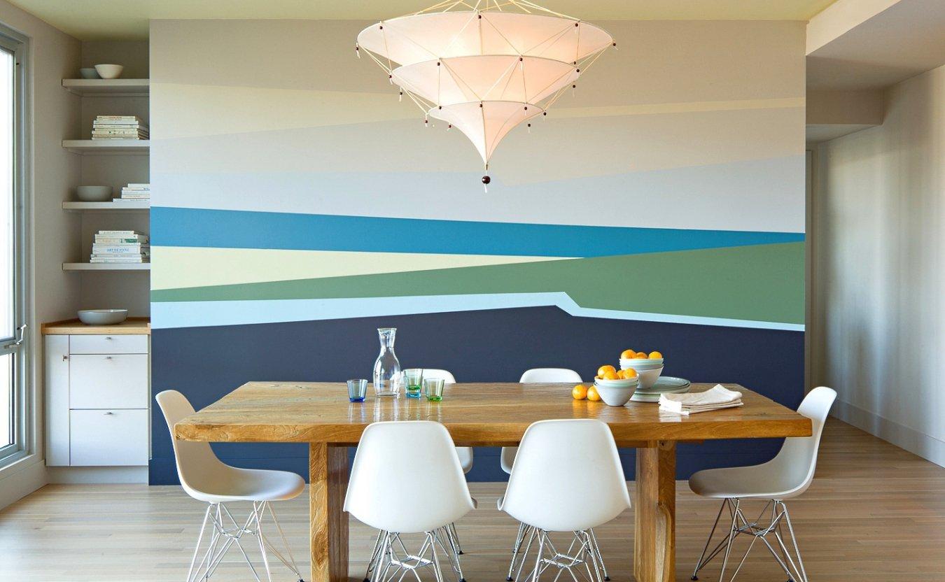 Окраска стен при помощи скотча