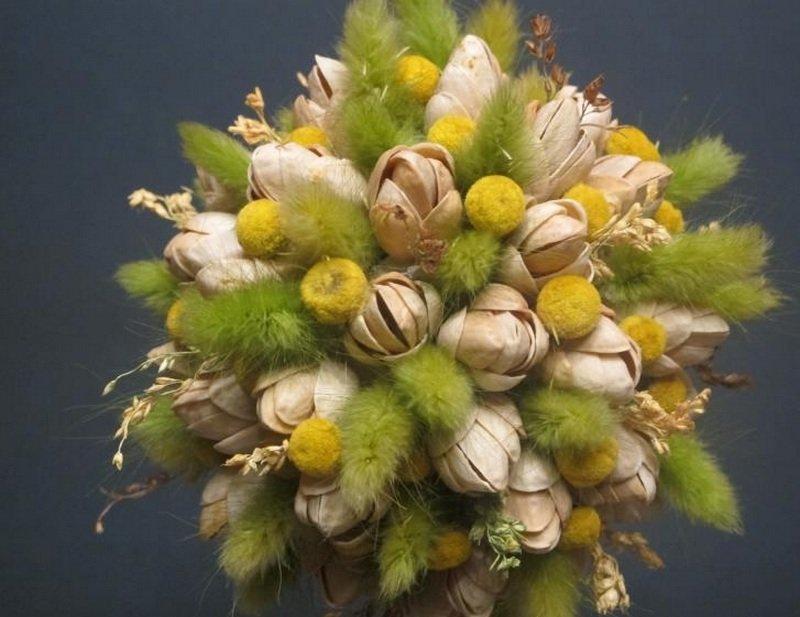 Топиарий из сухоцветов