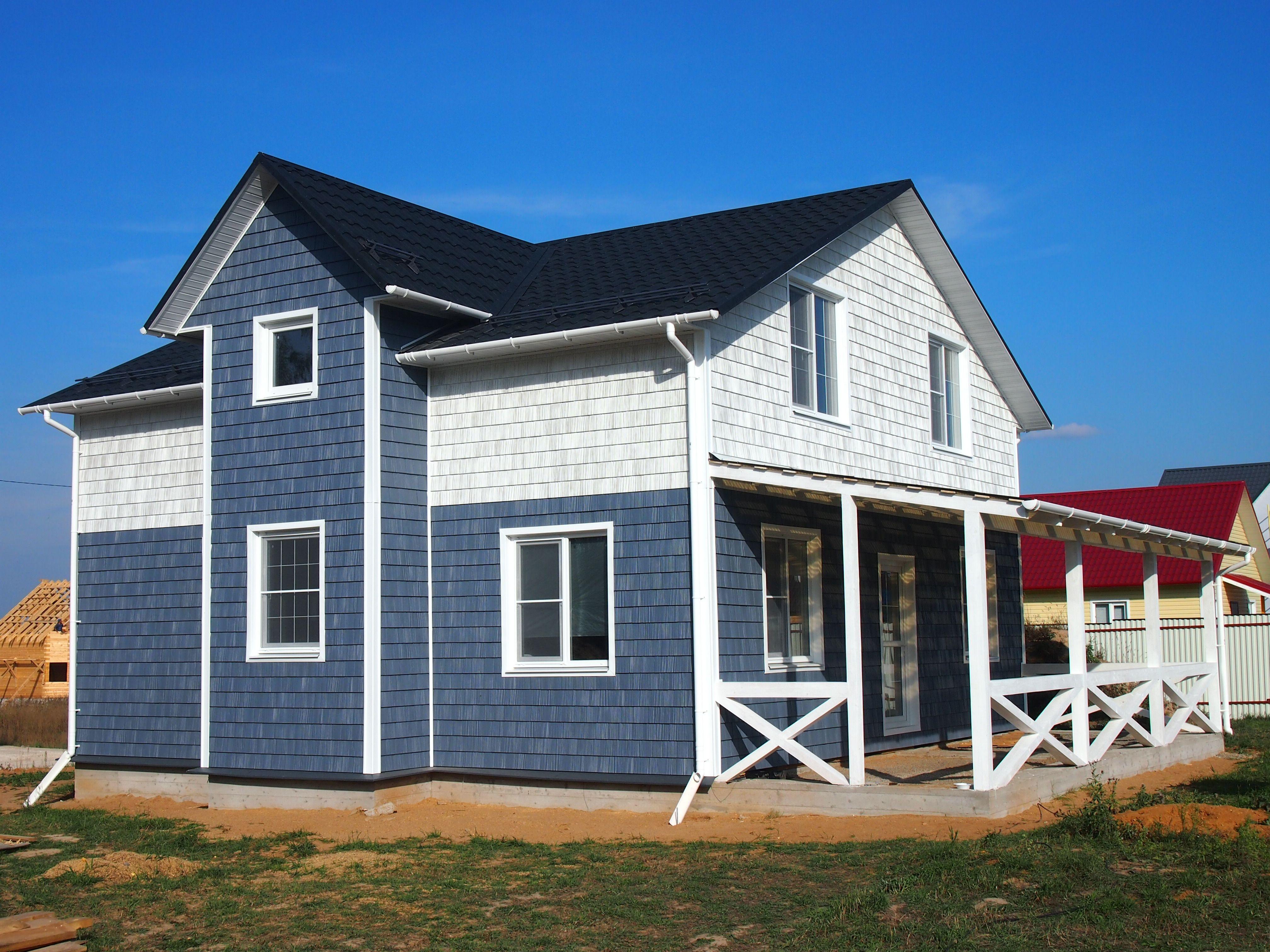 отделка фасадов частных домов фото сайдингом окончания института