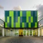 Алюминокомпозитные панели зеленого цвета