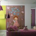 Рисунок на стене в детской