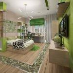 Зеленый цвет в дизайне квартиры