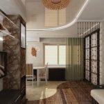 Зонирование комнат с помощью ламината двух цветов