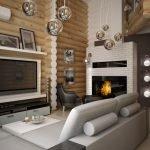 Хай-тек в деревянном доме