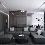 Светло-черный диван