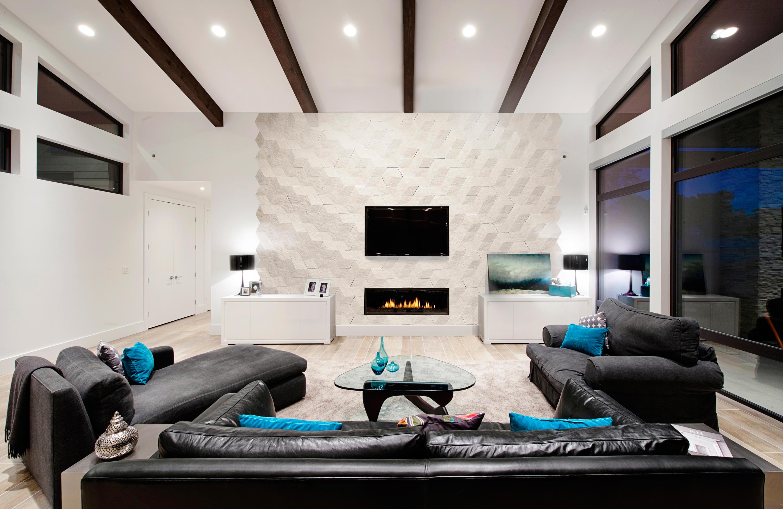 Белый потолок с черными вставками