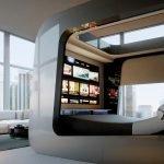 Спальня внутри гостиной