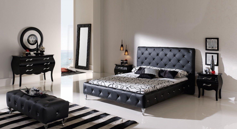 Кровать в интерьере в стиле модерн