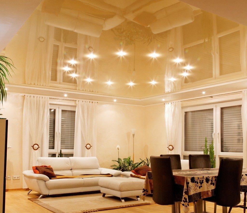 Освещение в зале с низким потолком