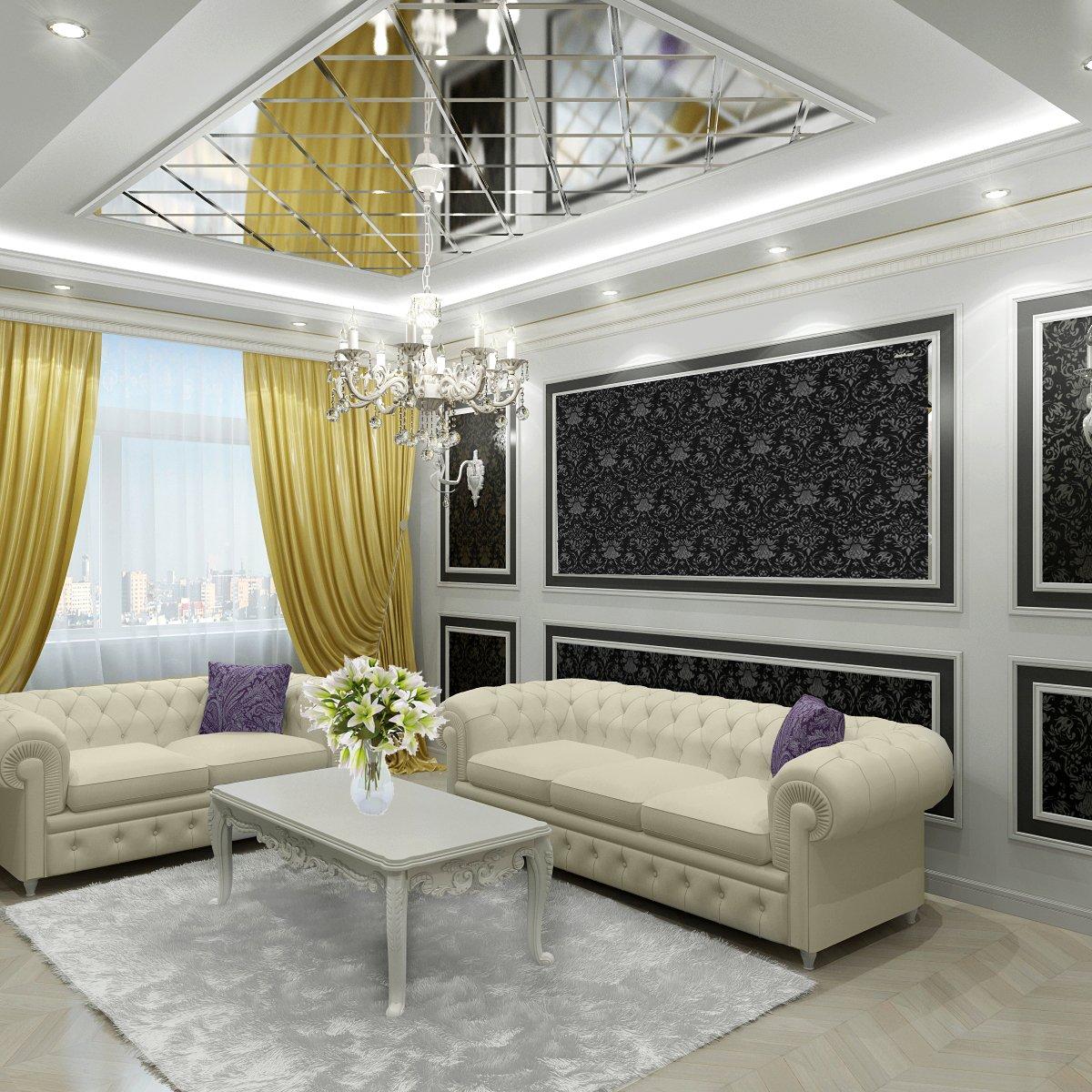 Зеркала в дизайне потолка