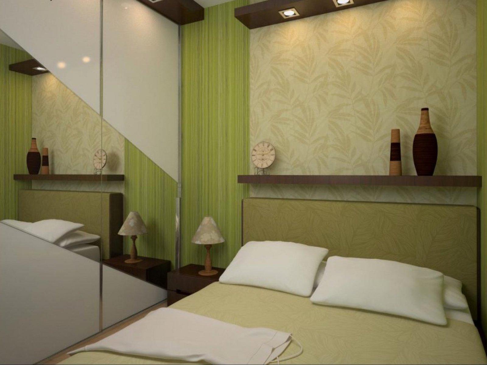 Оливковый в дизайне спальни