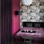Фиолетовый в дизайне спальни