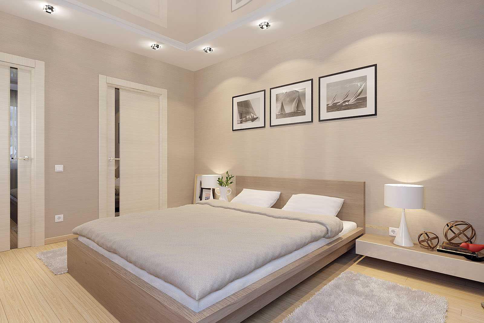Освещение в спальне без окон