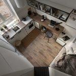 Однокомнатная квартира: вид сверху