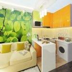 Комната в желто-зеленых тонах