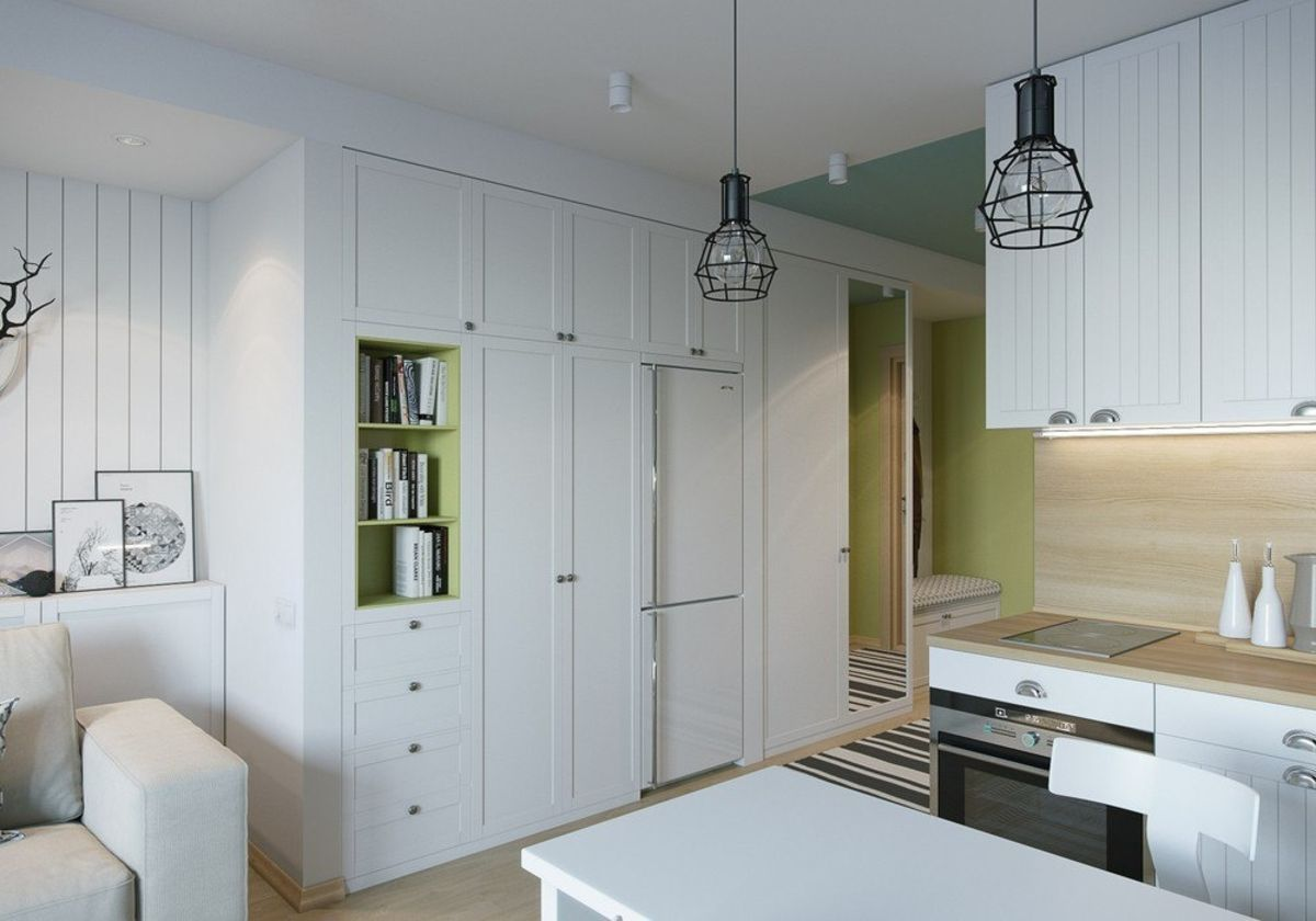 Белый цвет в интерьере однокомнатной квартиры