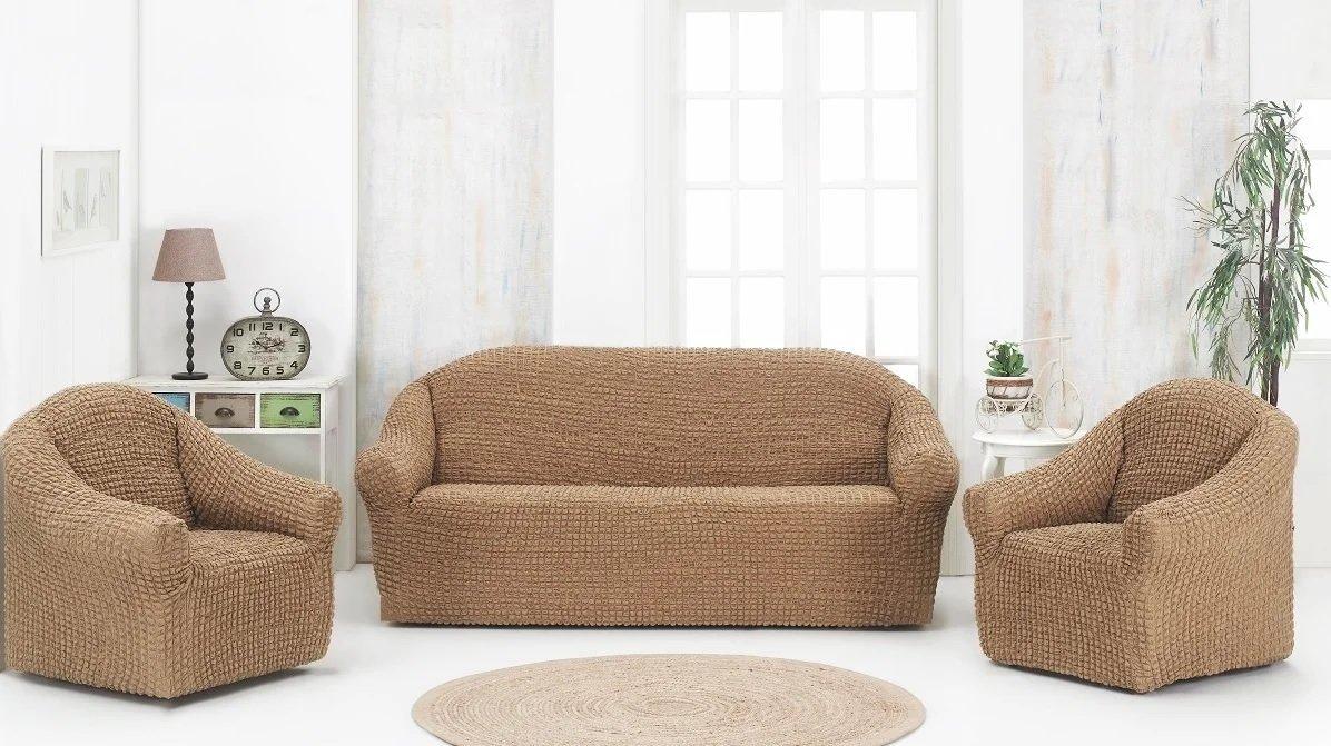 Еврочехол на диване с подлокотниками